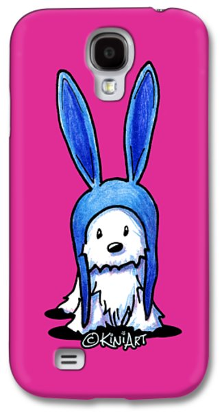 Rabbit Ears Westie Galaxy S4 Case by Kim Niles