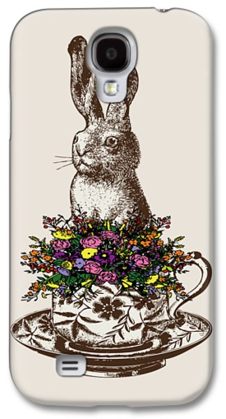 Rabbit In A Teacup Galaxy S4 Case by Eclectic at HeART