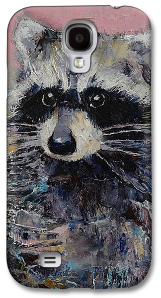 Raccoon Galaxy S4 Case by Michael Creese