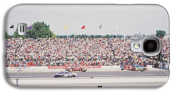 Racecars On A Motor Racing Track Galaxy S4 Case by Panoramic Images