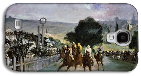 Races At Longchamp Galaxy S4 Case by Edouard Manet
