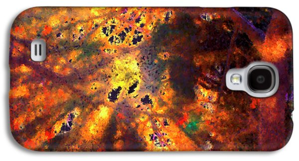 Radiant Ice Crystals - Winter Storm Abstract Galaxy S4 Case by Rayanda Arts
