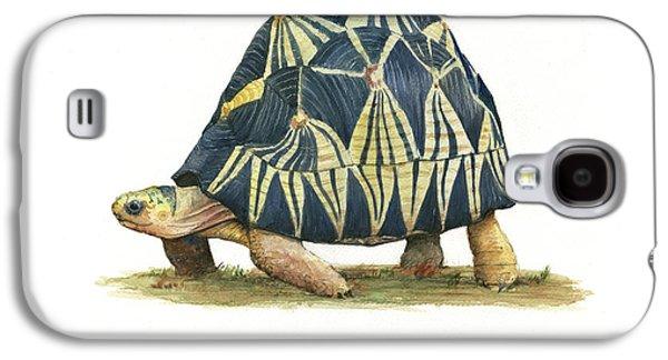 Radiated Tortoise  Galaxy S4 Case by Juan Bosco