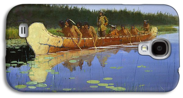 Radisson And Groseilliers Galaxy S4 Case by Frederic Remington
