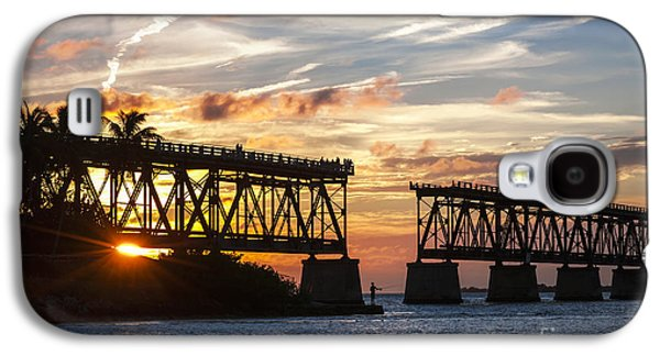 Rail Bridge At Florida Keys Galaxy S4 Case by Elena Elisseeva