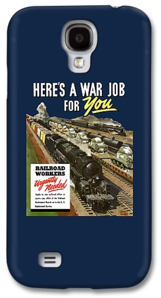 Train Galaxy S4 Case - Railroad Workers Urgently Needed by War Is Hell Store