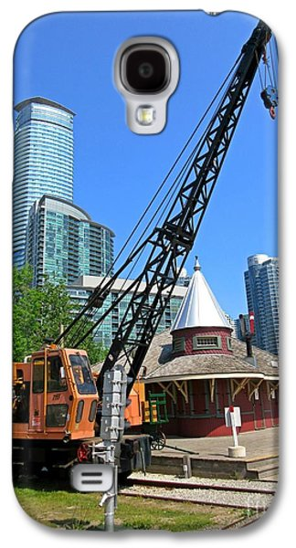 Railway Crane At Roundhouse Park Toronto Galaxy S4 Case by John Malone