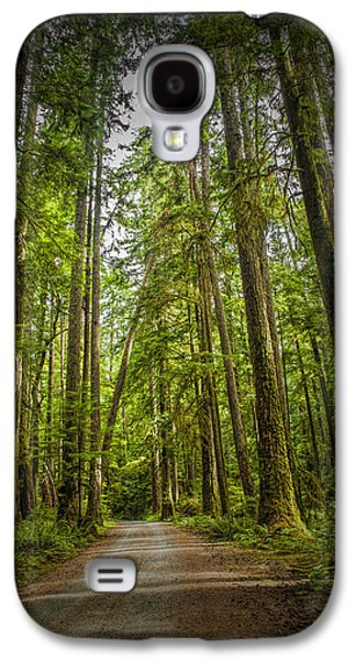 Rain Forest Dirt Road Galaxy S4 Case by Randall Nyhof