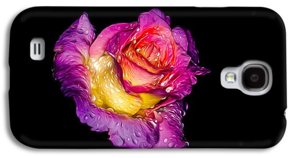 Galaxy S4 Case featuring the photograph Rain-melted Rose by Rikk Flohr