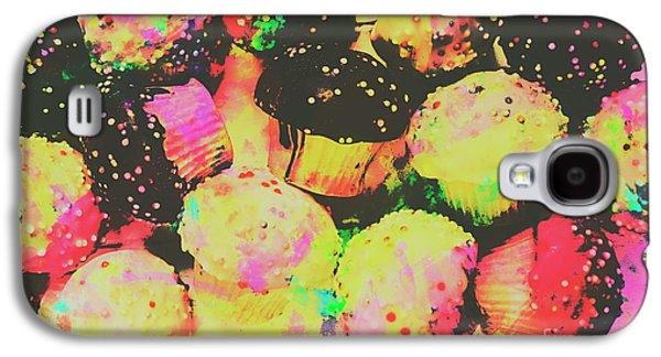 Rainbow Color Cupcakes Galaxy S4 Case