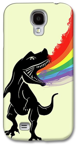 Rainbow Dinosaur Galaxy S4 Case by Mark Ashkenazi