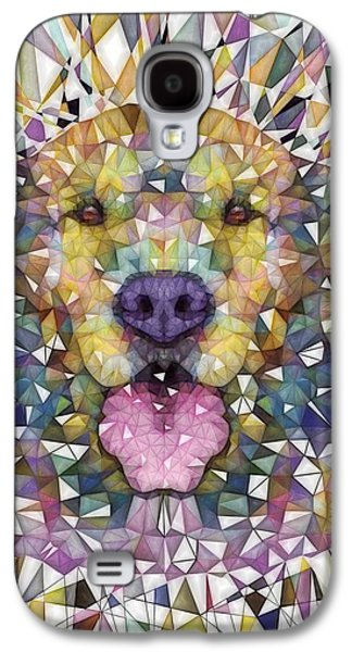 Puppies Galaxy S4 Cases - Rainbow Dog Galaxy S4 Case by Ancello