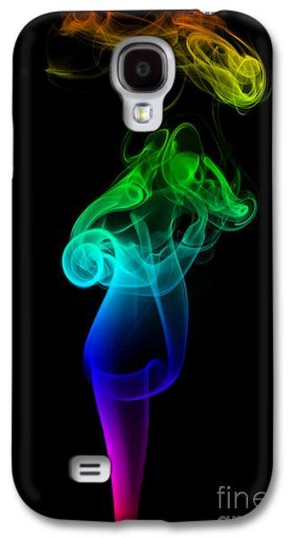 Smoke Digital Art Galaxy S4 Cases - Rainbow Flame Galaxy S4 Case by Alexander Butler