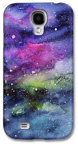 Constellations Galaxy S4 Case - Rainbow Galaxy Watercolor by Olga Shvartsur