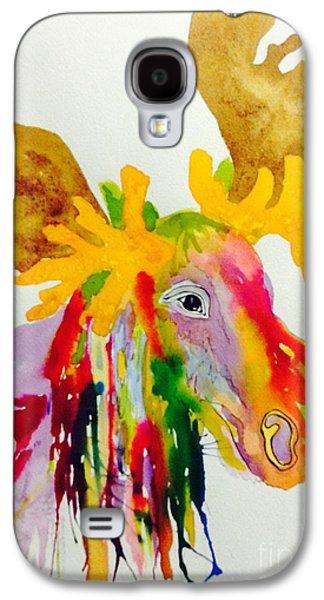 Rainbow Moose Head  - Abstract Galaxy S4 Case