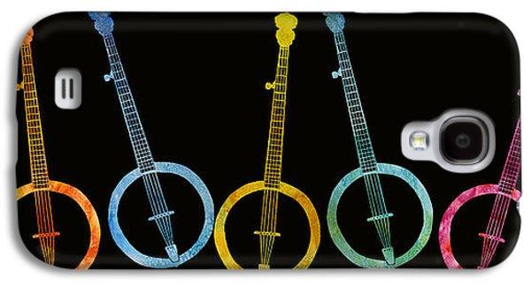 Rainbow Of Banjos Galaxy S4 Case by Jenny Armitage