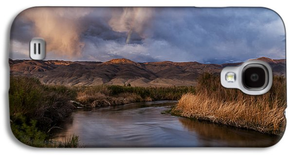 Rainbow Over Lower Owens River Galaxy S4 Case