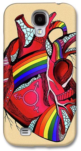 Rainbow Pride Heart Galaxy S4 Case
