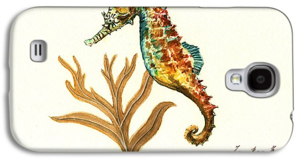 Rainbow Seahorse Galaxy S4 Case by Juan Bosco