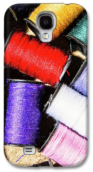 Galaxy S4 Case featuring the photograph Rainbow Threads Sewing Equipment by Jorgo Photography - Wall Art Gallery