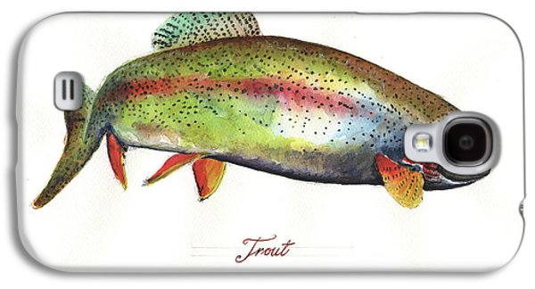Rainbow Trout Galaxy S4 Case by Juan Bosco