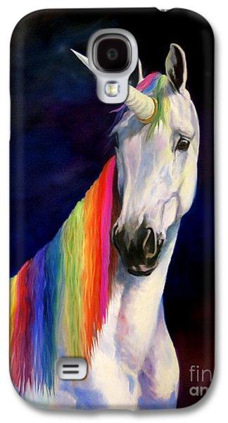 Unicorn Galaxy S4 Case - Rainbow Unicorn by Jeanne Newton Schoborg
