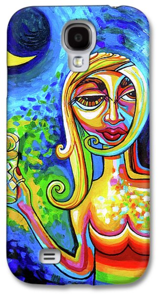 Rainbow Woman With A Crescent Moon Galaxy S4 Case