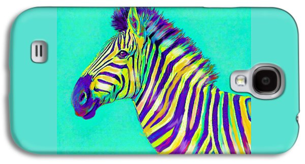 Rainbow Zebra 2013 Galaxy S4 Case by Jane Schnetlage