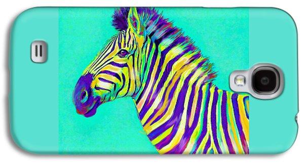 Rainbow Zebra 2013 Galaxy S4 Case by Jane Schnetlage