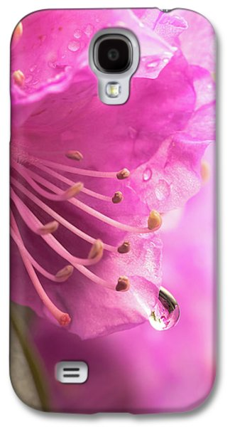 Raindrop On Rhododenron Galaxy S4 Case by Jim Hughes