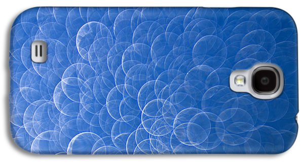 Blue Abstracts Galaxy S4 Cases - Raindrops on Window Galaxy S4 Case by Silke Magino