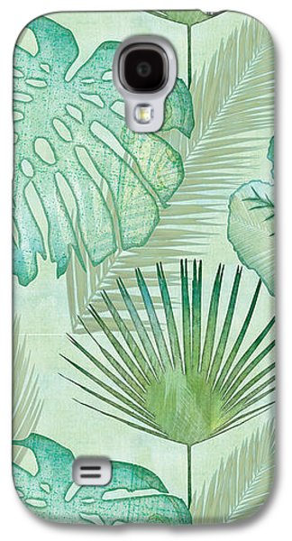 Rainforest Tropical - Elephant Ear And Fan Palm Leaves Repeat Pattern Galaxy S4 Case