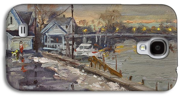 Rainy And Snowy Evening By Niagara River Galaxy S4 Case by Ylli Haruni