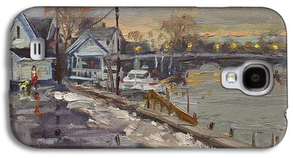 Rainy And Snowy Evening By Niagara River Galaxy S4 Case