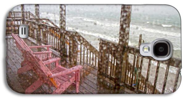 Rainy Beach Evening Galaxy S4 Case by Betsy Knapp
