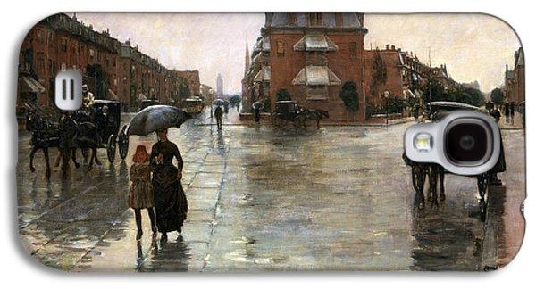 Rainy Day, Boston Galaxy S4 Case by Childe Hassam