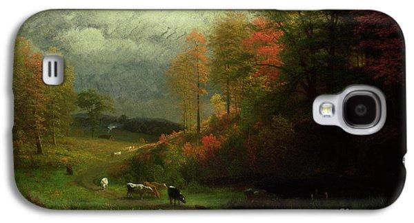 Rainy Day In Autumn Galaxy S4 Case by Albert Bierstadt