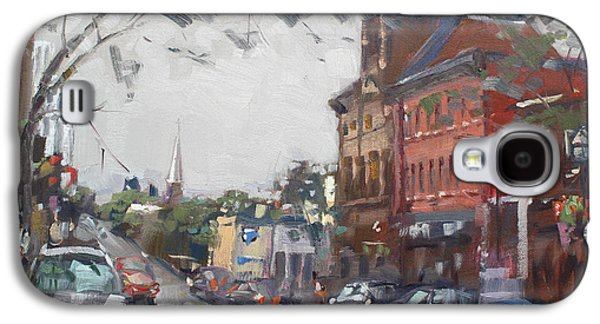 Rainy Day In Downtown Brampton On Galaxy S4 Case by Ylli Haruni