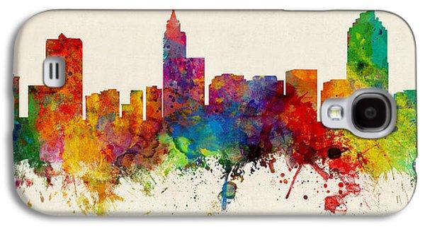 Raleigh North Carolina Skyline Panoramic Galaxy S4 Case by Michael Tompsett