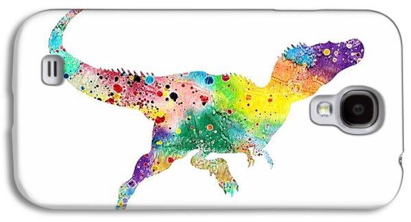 Raptor 2 Dinosaur Watercolor Galaxy S4 Case by Svetla Tancheva