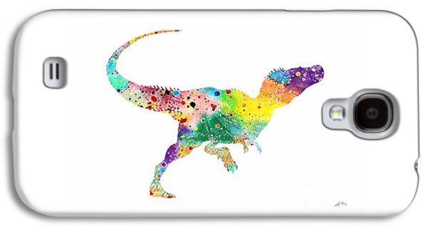 Raptor 2 Dinosaur Watercolor Galaxy S4 Case