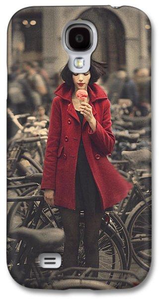 Bicycle Galaxy S4 Case - raspberry sorbet in Amsterdam by Anka Zhuravleva