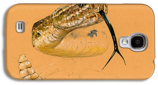 Snake Galaxy S4 Case - Rattlesnake Painting by Juan  Bosco