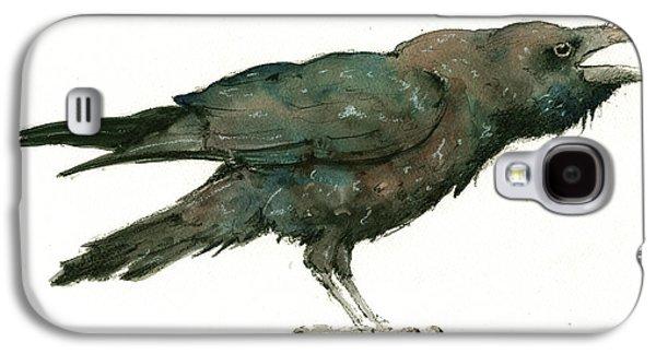 Crow Galaxy S4 Case - Raven Bird by Juan Bosco