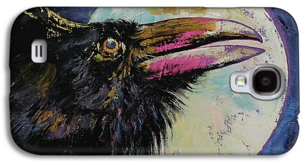 Raven Moon Galaxy S4 Case by Michael Creese