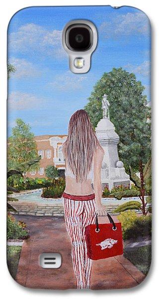 Razorback Swagger At Bentonville Square Galaxy S4 Case by Belinda Nagy