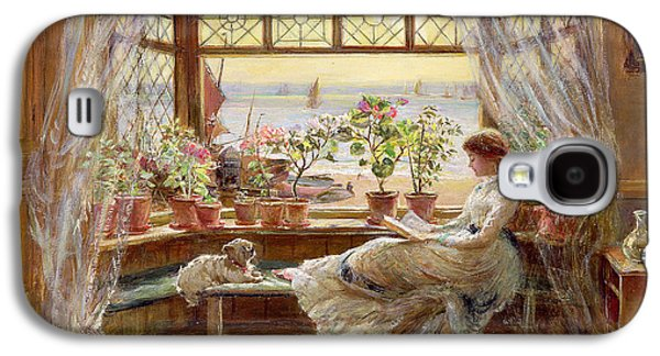 Reading By The Window Galaxy S4 Case by Charles James Lewis