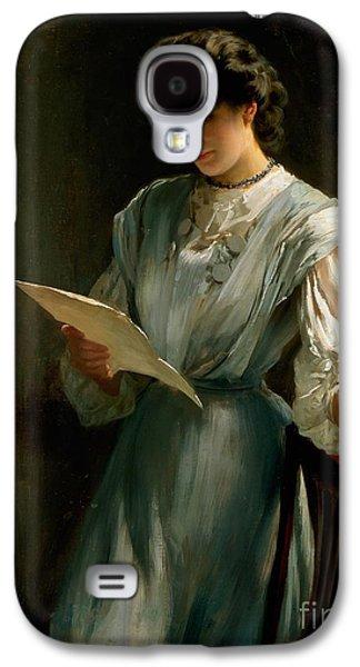Reading The Letter  Galaxy S4 Case by Thomas Benjamin Kennington