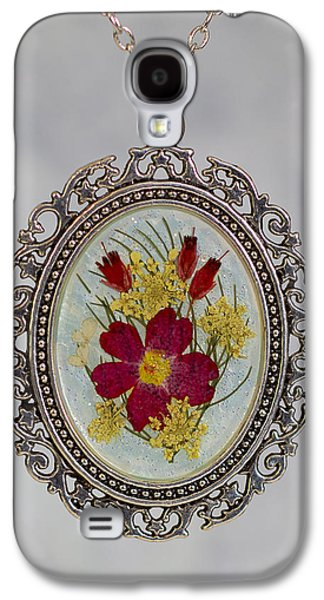 Real Pressed Verbena And Heather Blossoms Galaxy S4 Case
