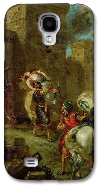 Rebecca Kidnapped By The Templar Galaxy S4 Case by Ferdinand Victor Eugene Delacroix
